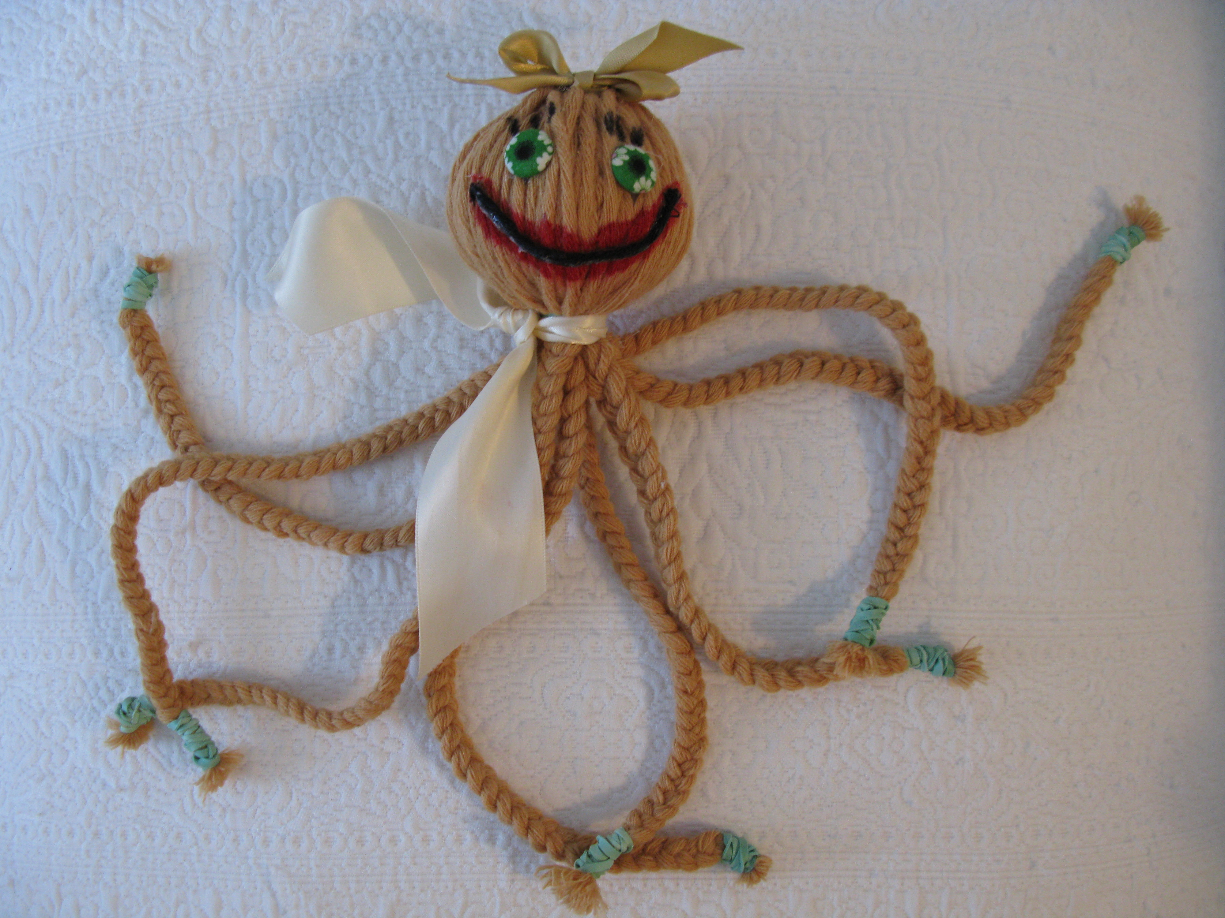 Picture of BRAID THAT OCTOPUS - a Craft Project for Kids Ages 4 -10