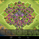 Clash of clans TH8 farming base-The Knife Edge