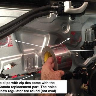 Replace 2006 Hyundai Sonata Window Regulator