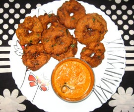Raw Potato - Chickpea Vadai