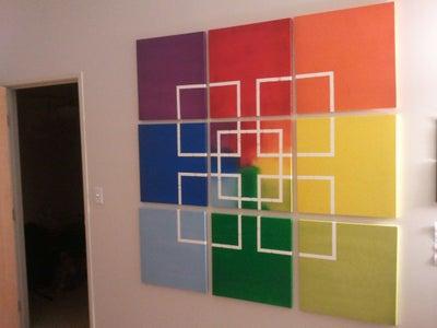 Geometric Canvas Art!