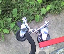 Building a strong flexible bicycle trailer coupler.