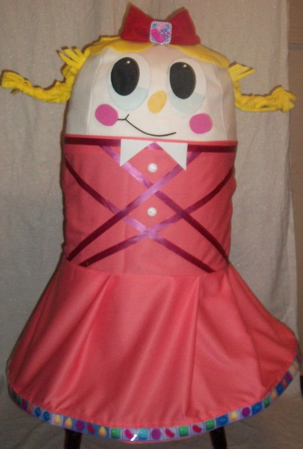 DIY Homemade Candy Crush Girl Character Costume