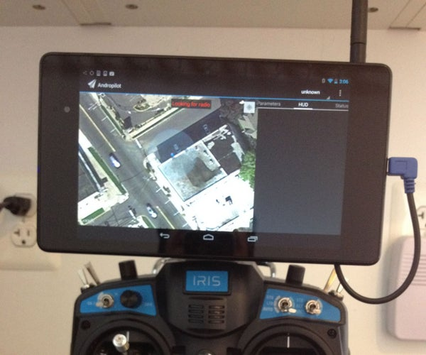 Nexus 7 R/C Control Mount Using Leftover GoPro Camera Mounts Parts