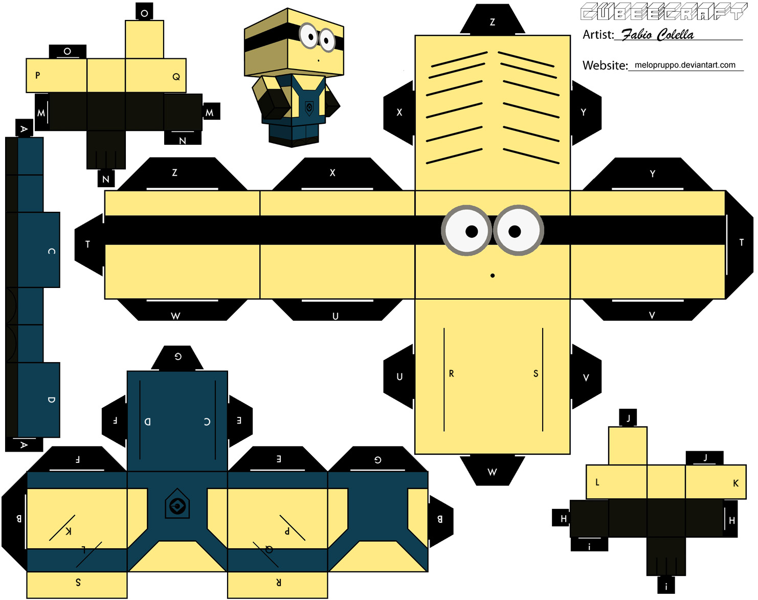 Picture of How to Create a Papercraft Minions (Despicable Me)