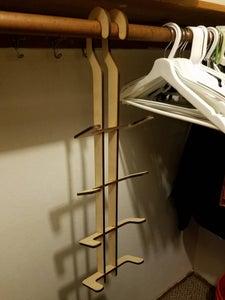 Laser Cut Closet Shoe Rack