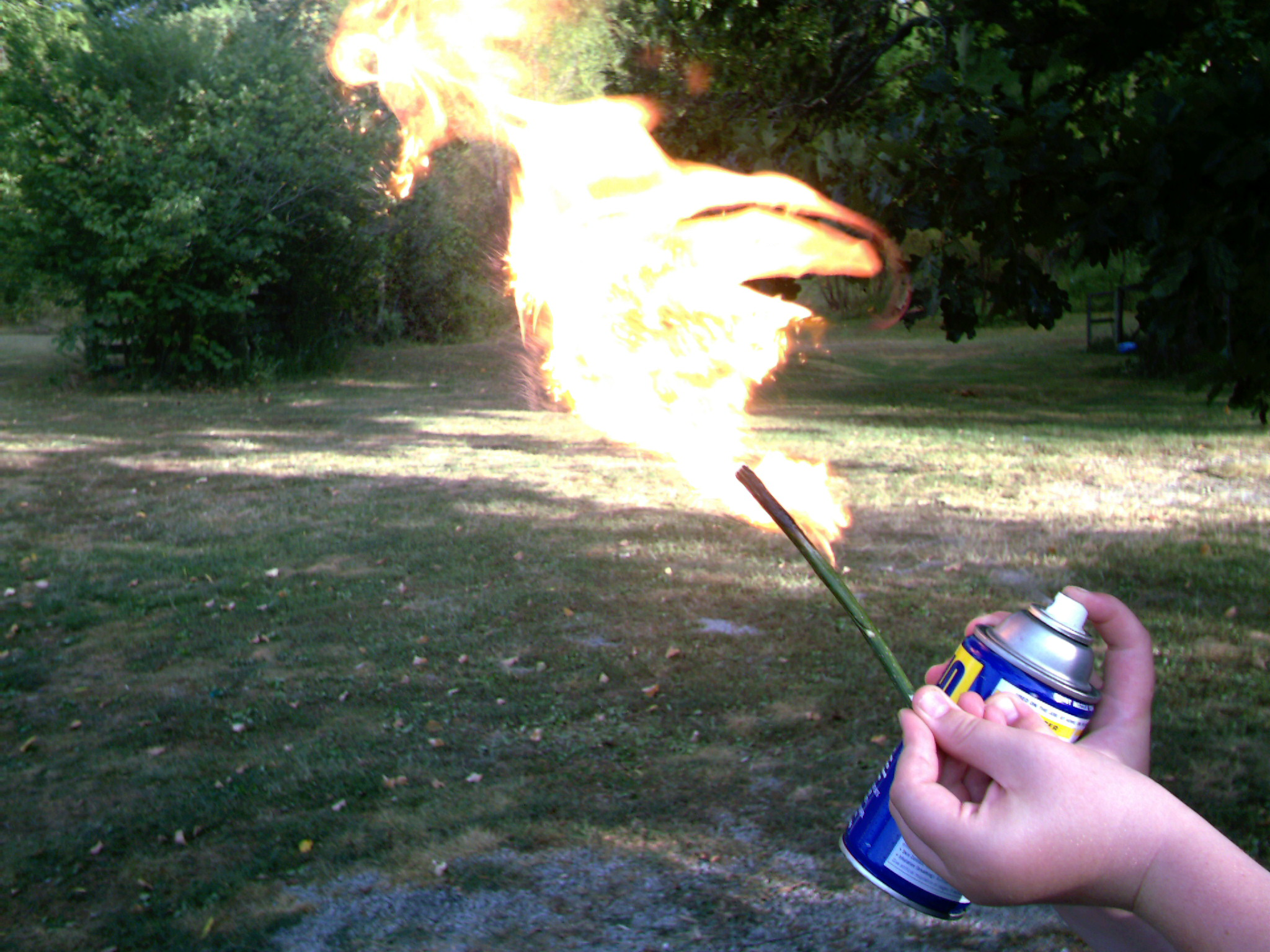 Picture of flame thrower