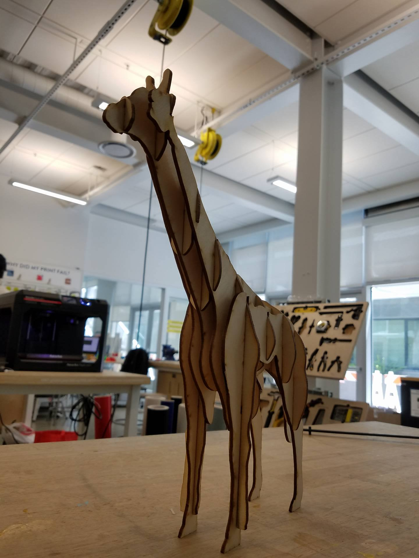 Picture of Laser Cut Giraffe