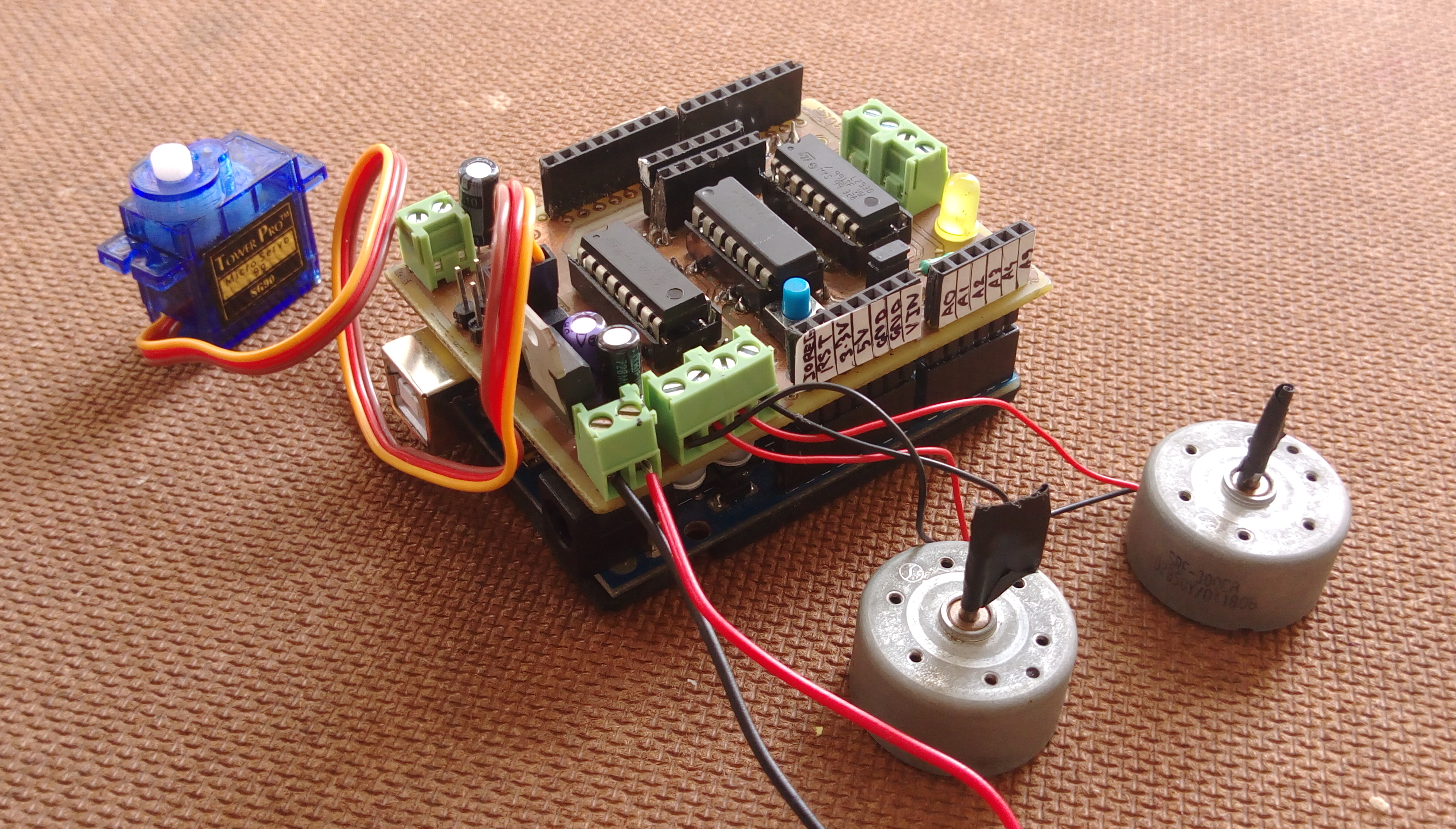 Picture of The Motor Shield/ the Motor Driver Circuit