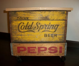 DIY Soda Crate Storage Table With Wheels