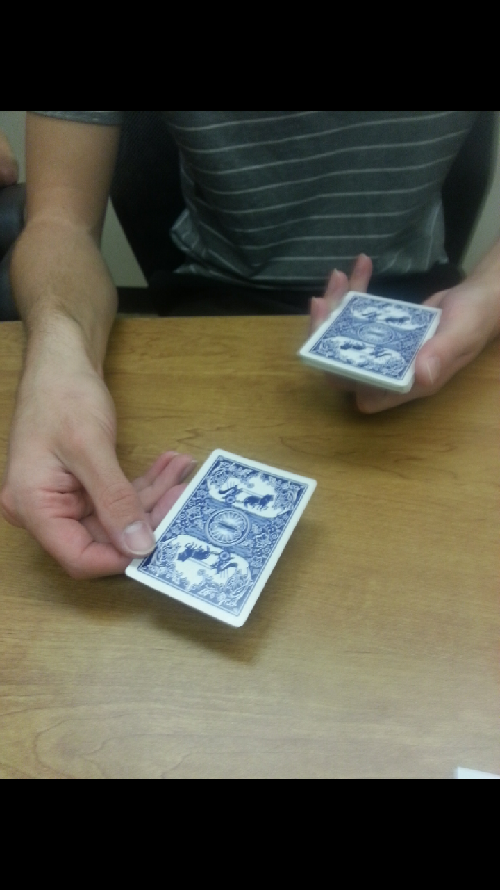 Picture of Spelling Out the Cards