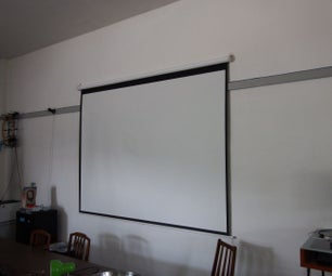 How to Hang a Projector Screen