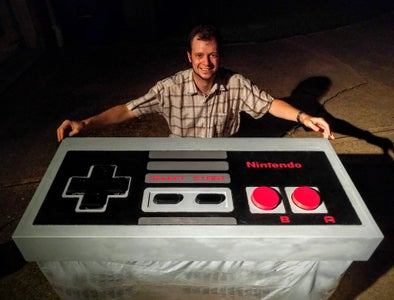 Functional, Huge 100x NES Controller Coffee Table