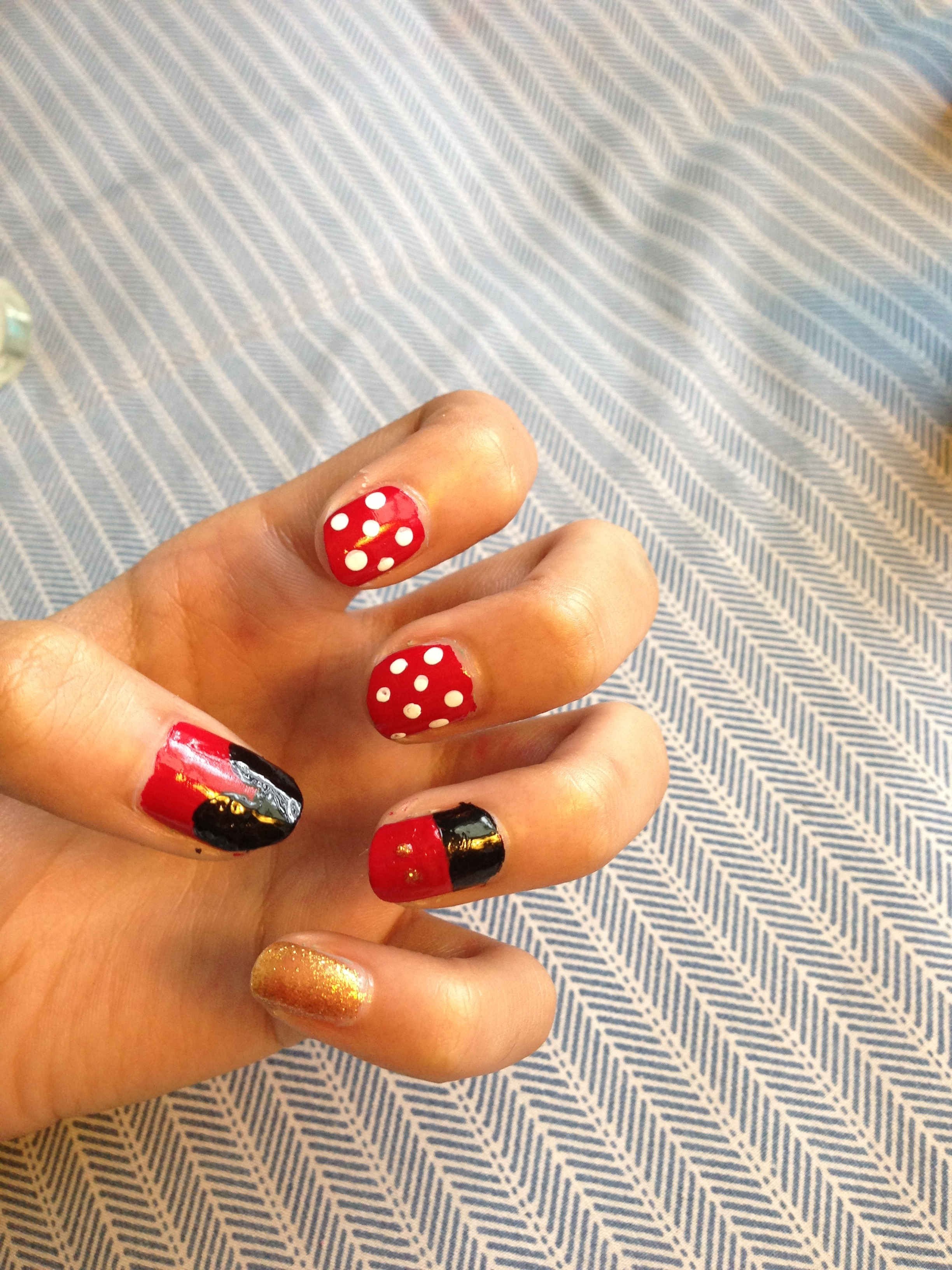 Picture of Mickey Mouse Nail Art