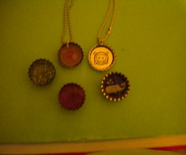Bottle Cap Necklaces and Magnets