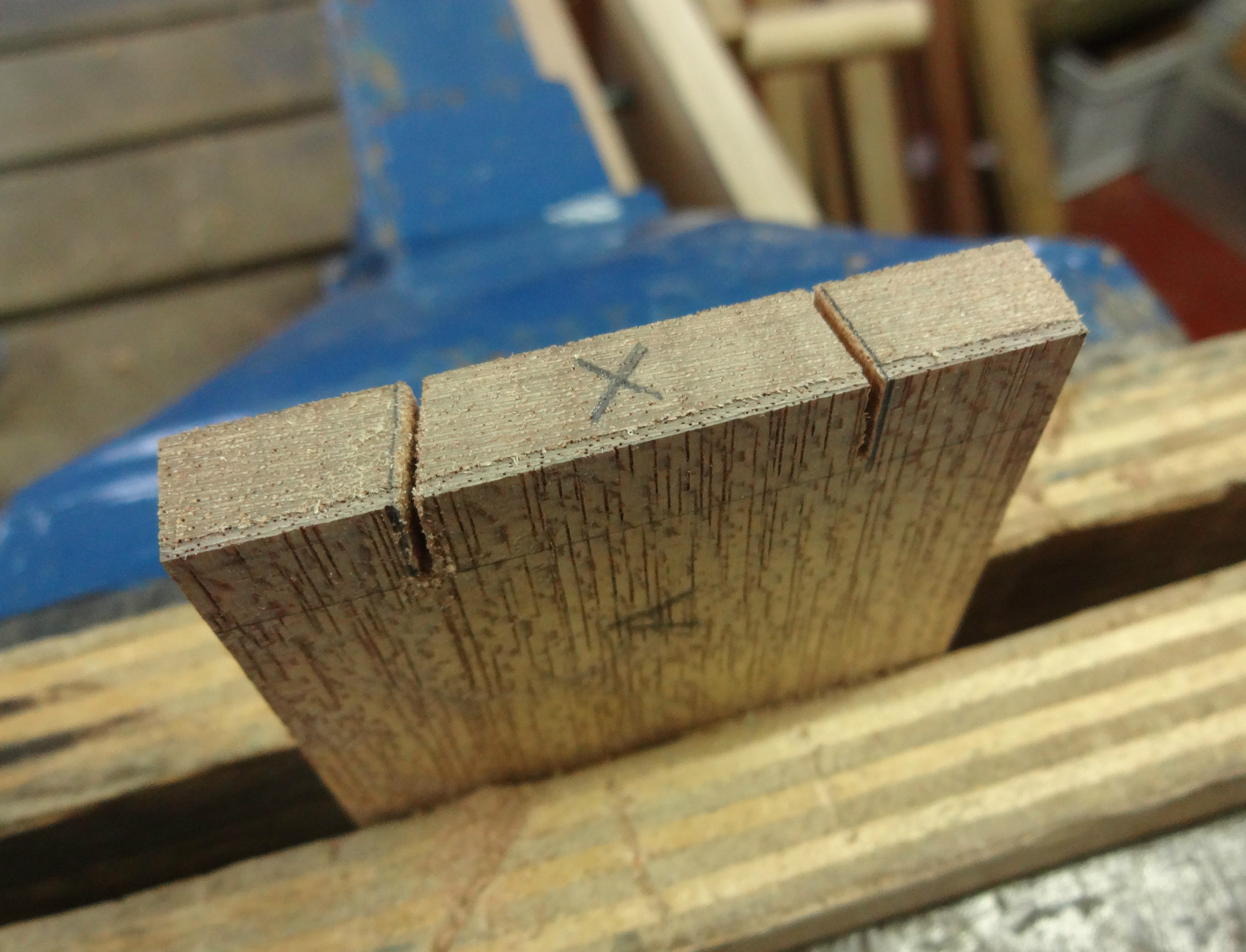 Picture of Dovetails: the Pins