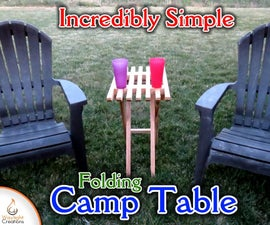 Easy Folding Wood Camp Table