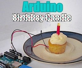 LED Birthday Cake Candle That You Can Blow Out