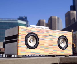 Turning Recycled Skateboards Into a Bluetooth Boombox