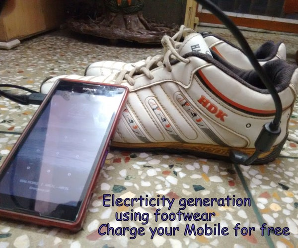 Generate Electricity Using Footwear-Charge Your Mobile(Piezo Generator)