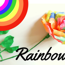DIY Rainbow Rose