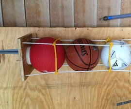 Easy Wall-mounted Sports Balls Holder