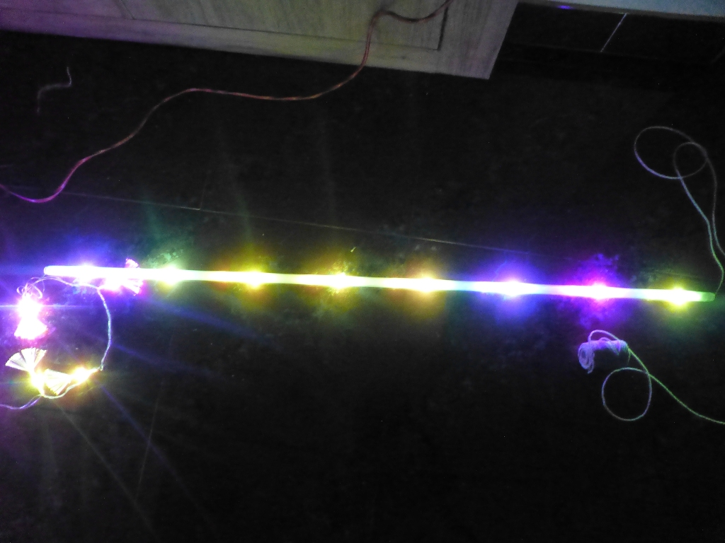 Picture of Tie the LED Serial Lighting and Pull Through