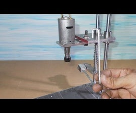 Homemade Mini Press Drill DIY PCB Drilling With Collet ER11 Spindle Motor