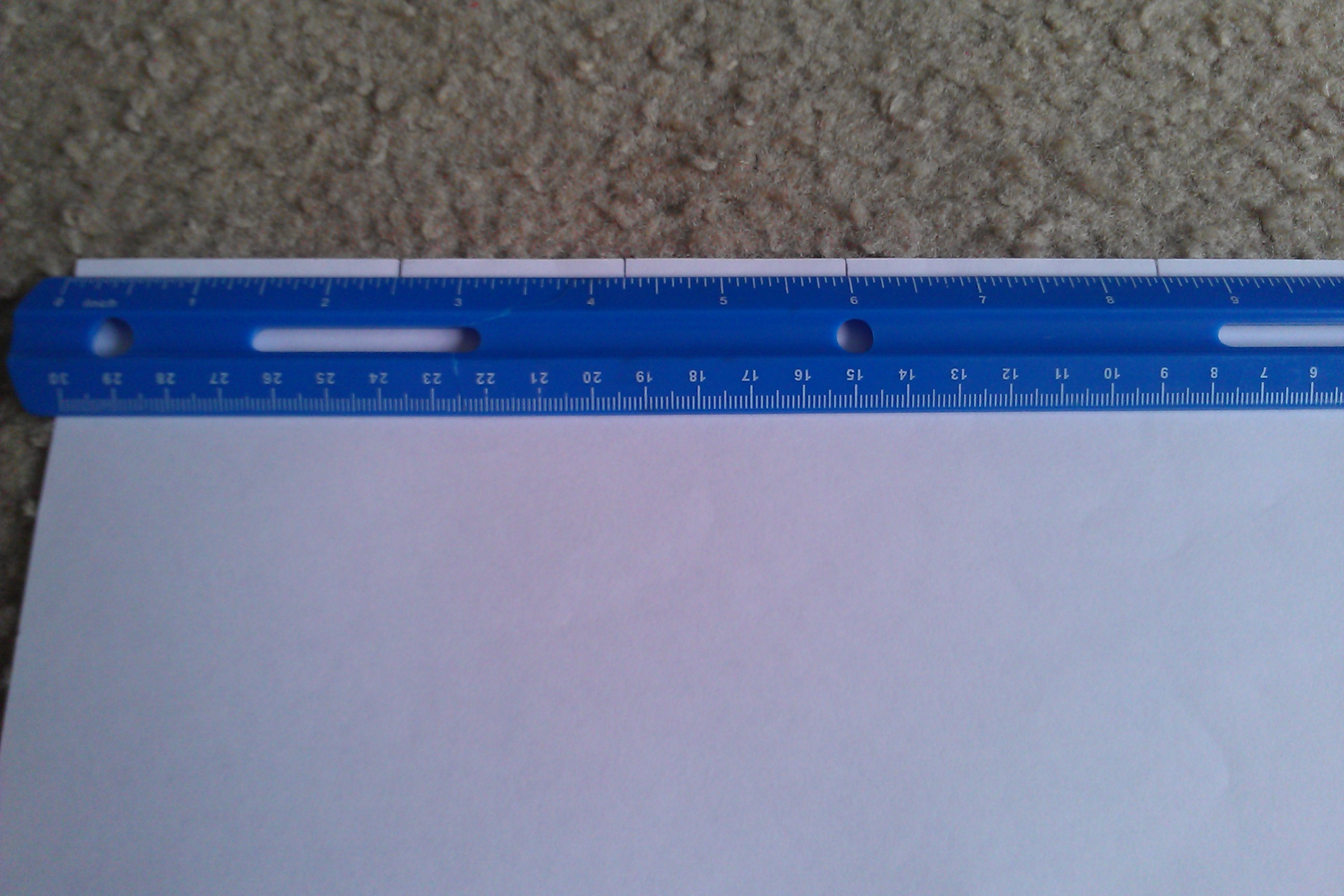 Picture of Papering: T1; Measurements