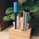 Bamboo Coasters Stationery Holder