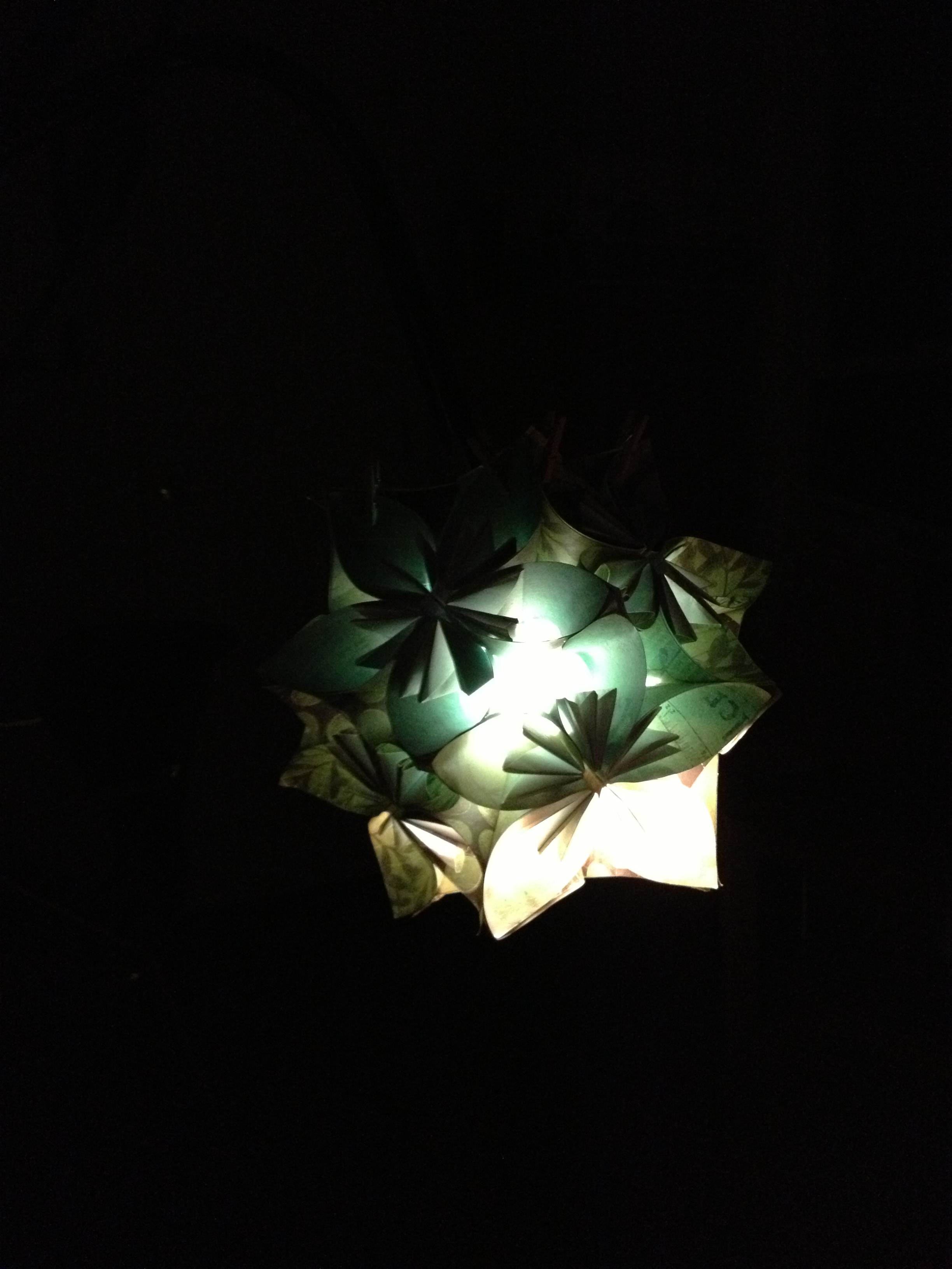Picture of Chandelier With Tissue Paper Liner