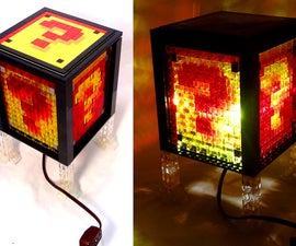 Super Mario Bros. Nightlight Made of LEGO