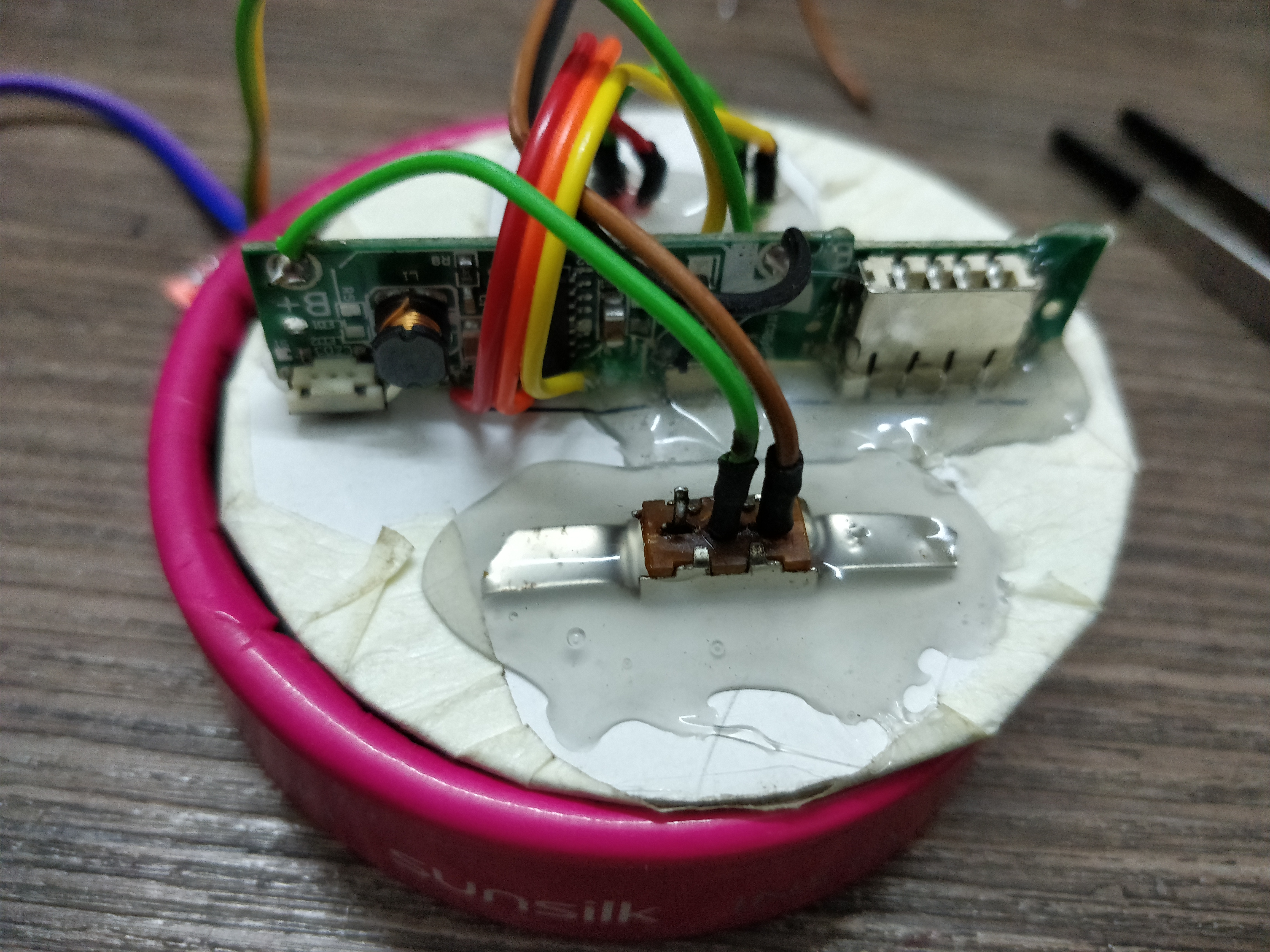 Picture of Mounting the Charging Circuit
