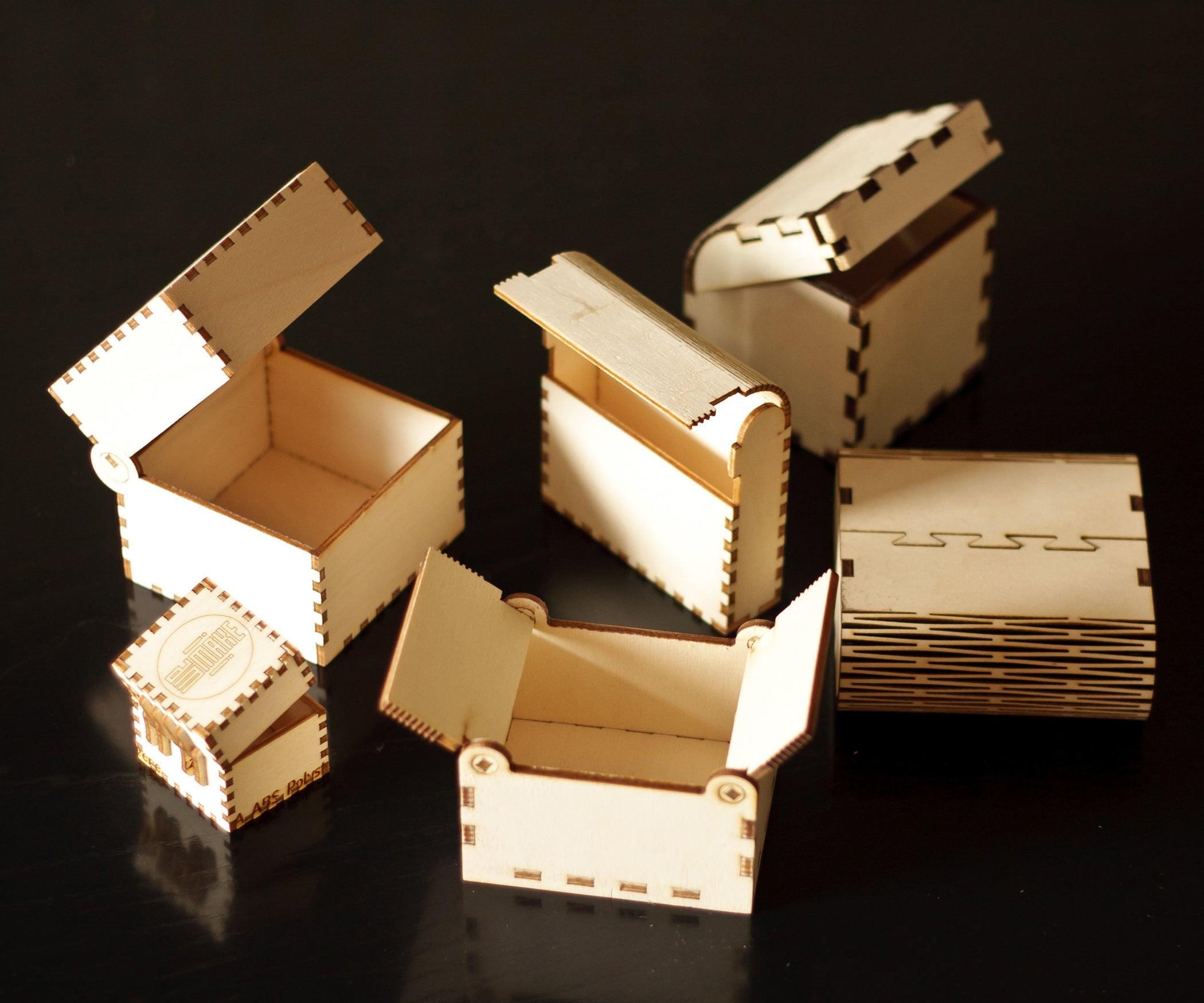 Lasercut Little Wood Boxes