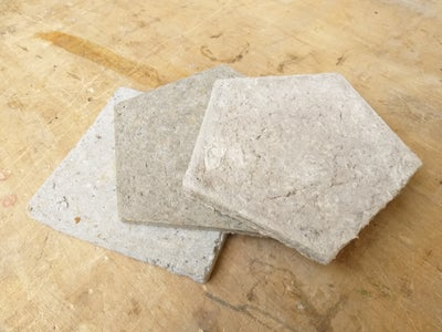 How to Make Your Own Papercrete Coasters