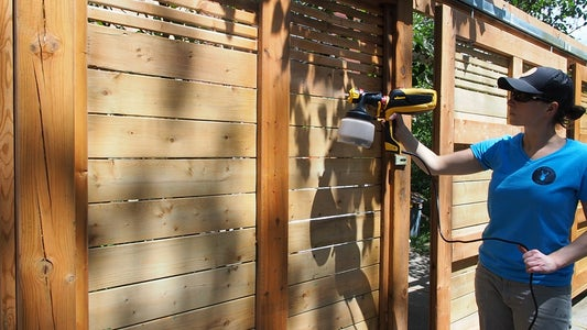 Apply Stain With a Sprayer