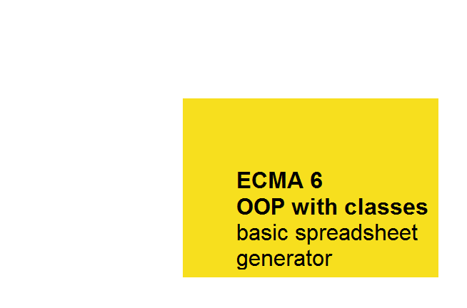 Picture of ECMA6 OOP With Classes, Basic Spreadsheet Generator