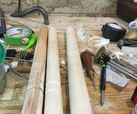 Turning Green Wood Legs for a Stool