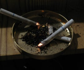Fake lit cigarette