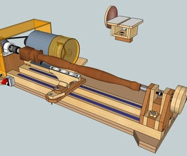 Bench Lathe 3 in 1 (Lathe - Sander - Grinder/Sharpener)
