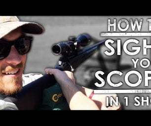 How to Sight in a New Scope in JUST ONE SHOT