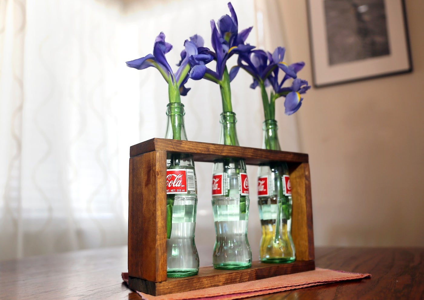 Project Time - Upcycled Bottle Vase With Perfectly Drilled Holes