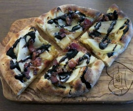 Bacon Brie Pear Pizzettes