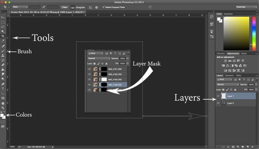 Quick Review of Photoshop Tools Used