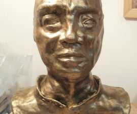 How to make a clay bust of someone you know. (bronze finish)