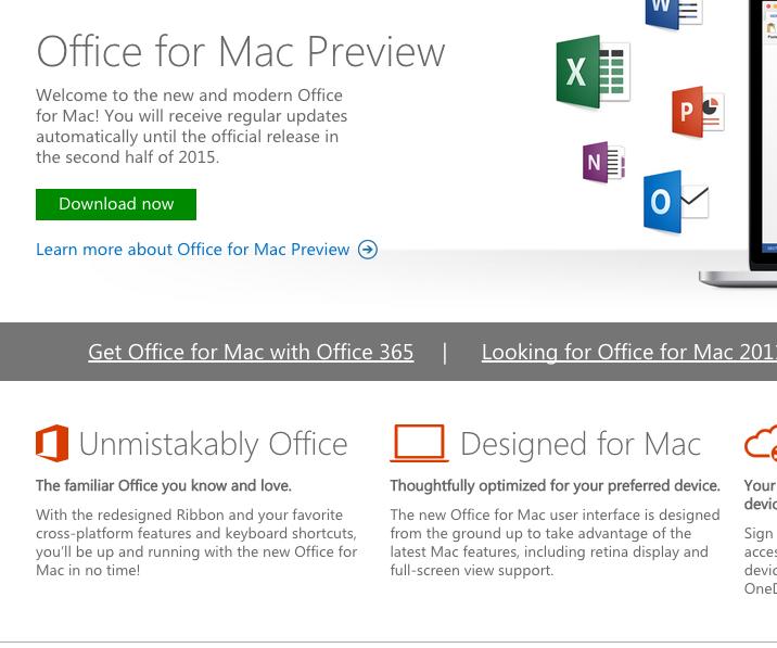 microsoft office 2016 mac v15 trial