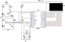 8051 Microcontroller Based Bidirectional Visitor Counter