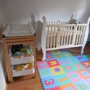 Baby Bed with Adjustable Base Height (and it's a Day Seat)