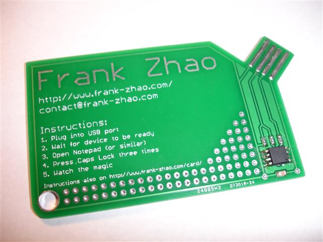Picture of USB PCB Business Card