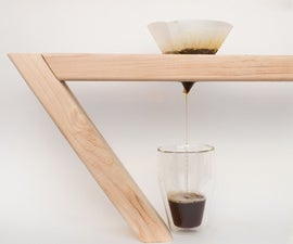 Wood 2x4 Balancing Pour Over Coffee Maker